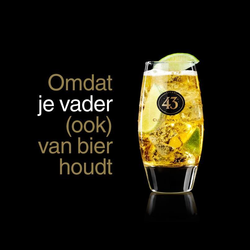 Ook vaderdag vier je met een lekker glas Licor 43. Maar dan in de mix!