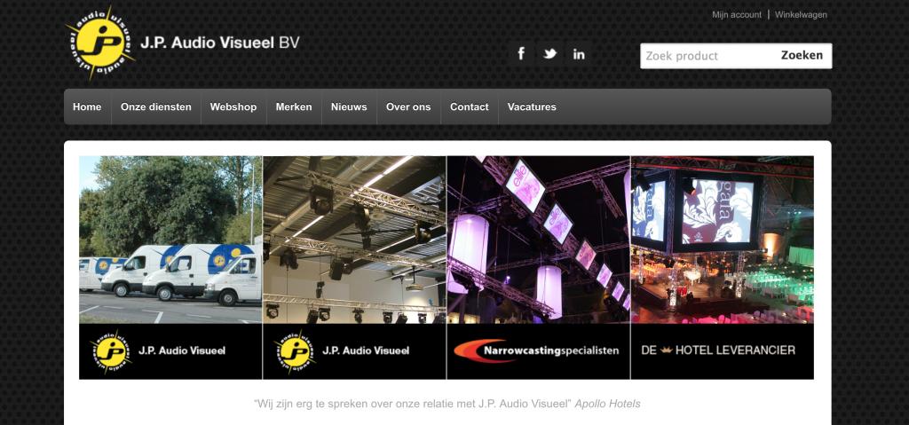 De nieuwe website, waar alle door J.P. Audio Visueel aangeboden diensten samenkomen. Want iedere bezoeker moet gelijk weten waar ze de informatie kunnen vinden die past bij hun vraag.