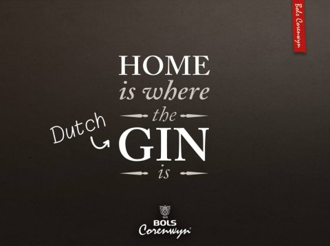 Home is where the Dutch gin is. Een Bols Corenwyn quote.